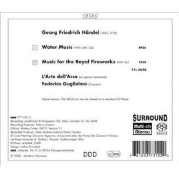 Handel - Water Music, Music for the Royal Fireworks [Sacd/CD Hybrid]